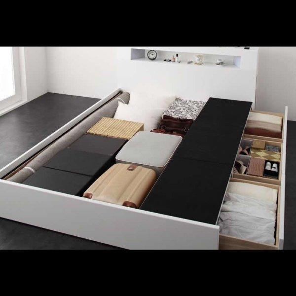 画像5: モダンライト・コンセント収納付きベッド【Cher】シェール