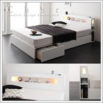 クイーン・サイズ対応ベッド【Cher】シェール
