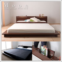収納庫付きキングベッドサイズ対応ベッド【Moon】ムーン