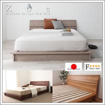 クイーンベッドサイズ対応布団も使えるベッド【zoe】ゾーイ