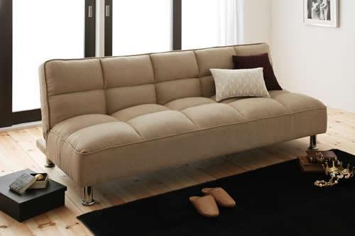 ファブリックタイプシンプルソファーベッド お部屋に合いやすいデザイン