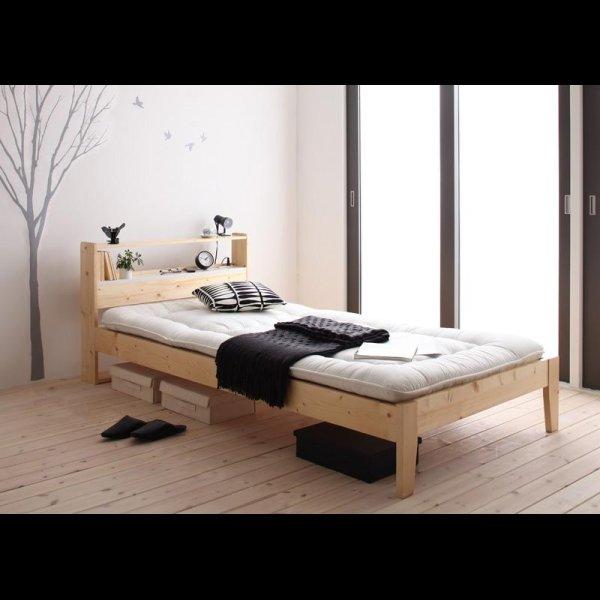 画像2: 北欧デザインコンセント付きすのこベッド【Stogen】ストーゲン