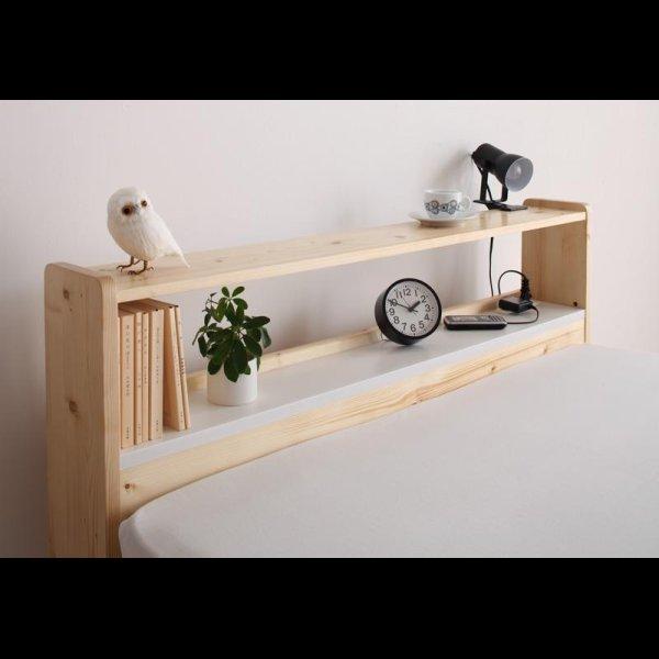 画像3: 北欧デザインコンセント付きすのこベッド【Stogen】ストーゲン