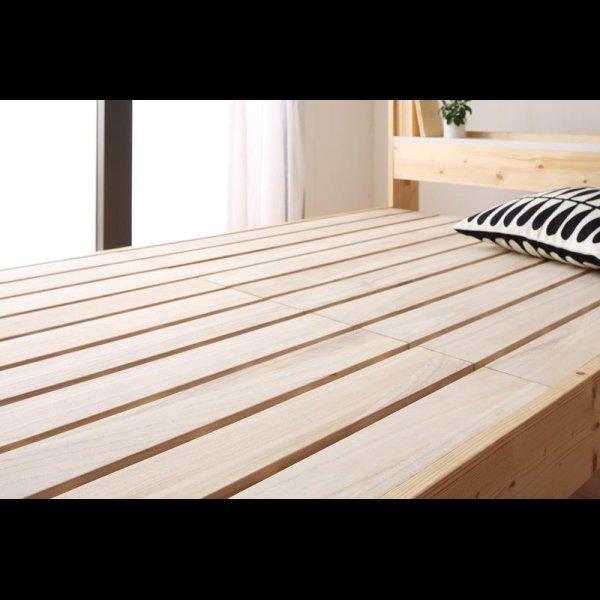 画像4: 北欧デザインコンセント付きすのこベッド【Stogen】ストーゲン