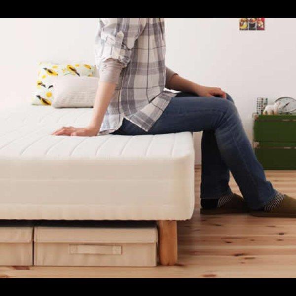 画像1: 移動がラクラク!分割式マットレスベッド【ポケットコイル/ボンネルコイル】ボリューム敷きパッドも!