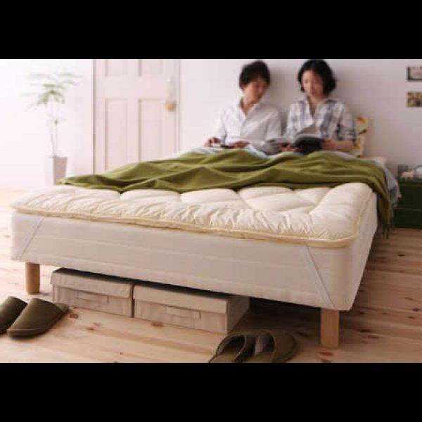 画像2: 移動がラクラク!分割式マットレスベッド【ポケットコイル/ボンネルコイル】ボリューム敷きパッドも!