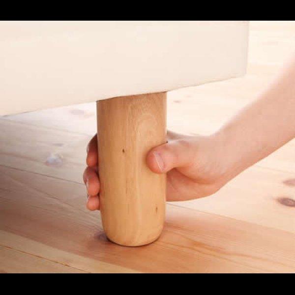 画像3: 移動がラクラク!分割式マットレスベッド【ポケットコイル/ボンネルコイル】ボリューム敷きパッドも!