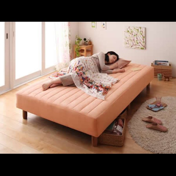画像2: 色・寝心地・脚が選べる!20色カバーリングポケットコイルマットレスベッド
