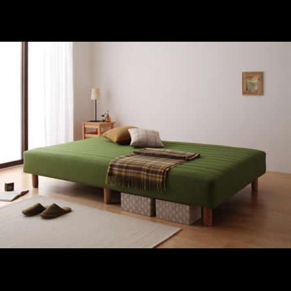 画像3: 色・寝心地・脚が選べる!20色カバーリングボンネルコイルマットレスベッド