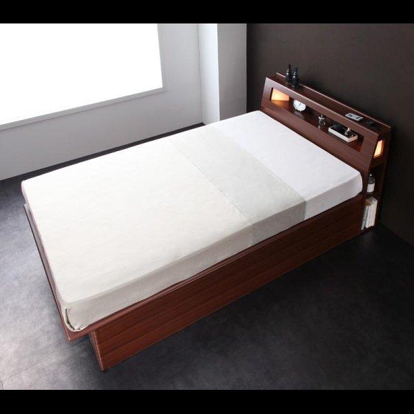 画像2: モダンライトコンセント付き・ガス圧式跳ね上げ収納ベッド【Cyrus】サイロス