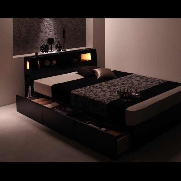 画像3: モダンライト・コンセント収納付きベッド【Modellus】モデラス
