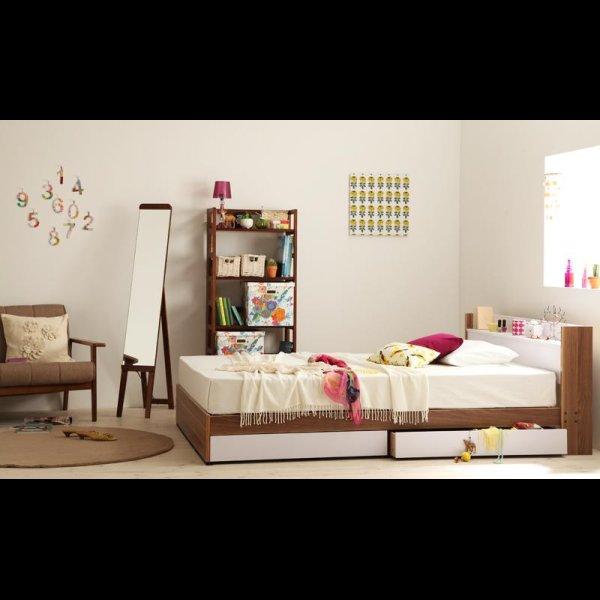 画像4: おしゃれデザイン収納ベッド【Tatiana】タチアナ