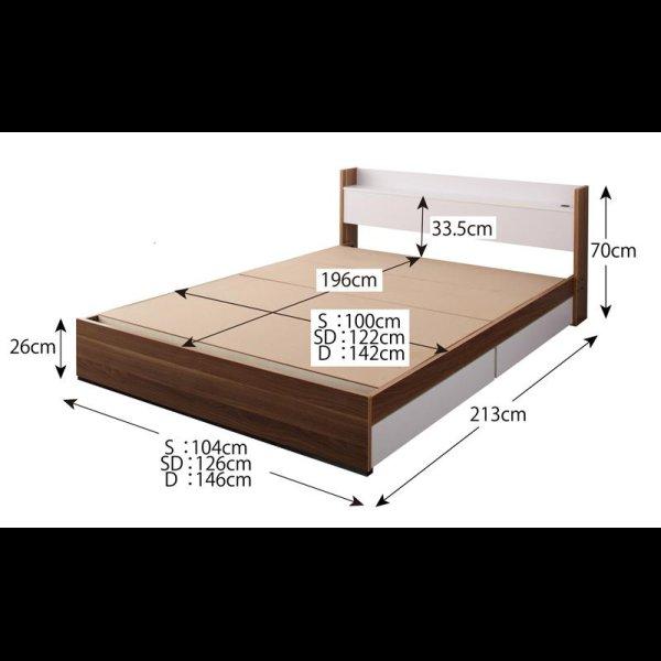 画像5: おしゃれデザイン収納ベッド【Tatiana】タチアナ