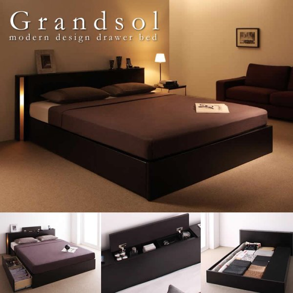 画像1: 【Grandsol】グランソル クイーンサイズ限定BOXタイプ収納ベッド