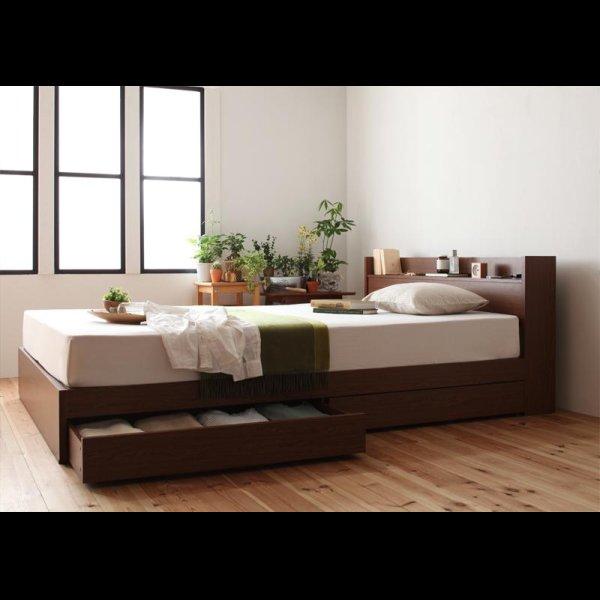 画像2: 棚・コンセント付き収納ベッド【S.leep】エス・リープ