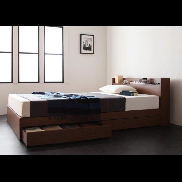 画像3: 棚・コンセント付き収納ベッド【S.leep】エス・リープ