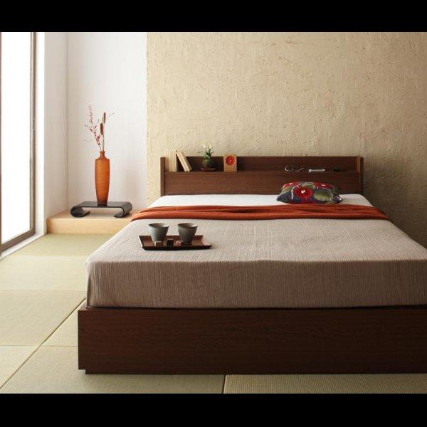 画像4: 棚・コンセント付き収納ベッド【S.leep】エス・リープ