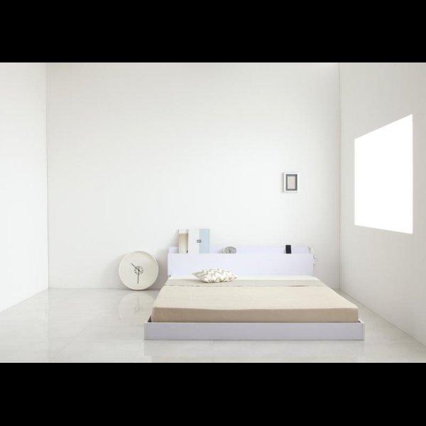 画像4: 棚・コンセント付きホワイトフロアベッド【IDEAL】アイディール