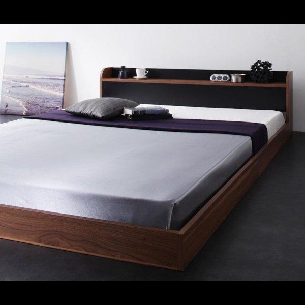 画像2: 個性的でおしゃれなバイカラーデザインフロアベッド
