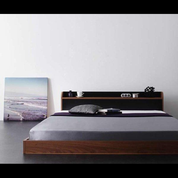 画像4: 個性的でおしゃれなバイカラーデザインフロアベッド