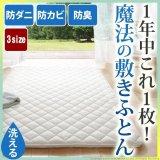 【大幅値下げ】吸湿する1枚で寝られるオールインワン敷布団【カラリフトン】