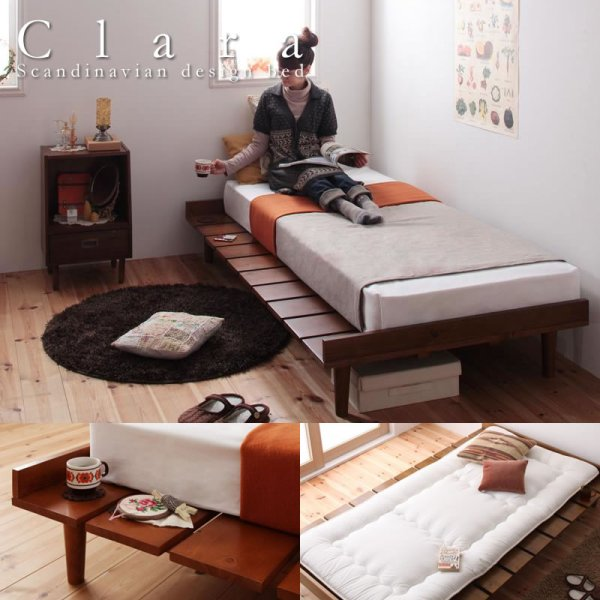 画像1: ショート丈北欧デザインベッド【Niels】ニエル
