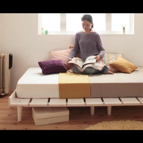 画像2: 大人気!北欧デザインヘッドレスベッド【Noora】ノーラ