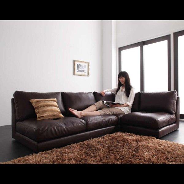画像4: レザー仕様:フロアコーナーソファ:ルチアーノ。単品購入可能!