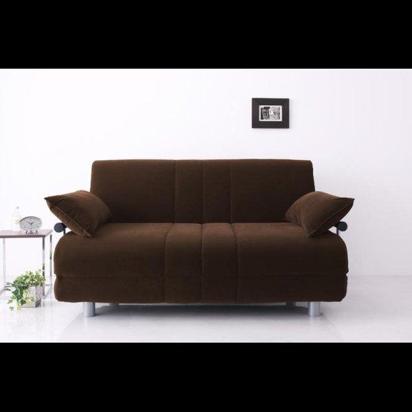 画像2: ふたりで寝られるカウチソファーベッド【ROLLY】ローリー ダブルサイズ