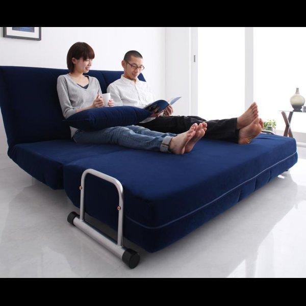 画像3: ふたりで寝られるカウチソファーベッド【ROLLY】ローリー ダブルサイズ