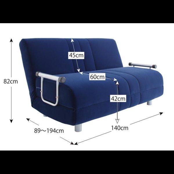 画像5: ふたりで寝られるカウチソファーベッド【ROLLY】ローリー ダブルサイズ
