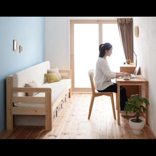 画像3: 横幅伸縮の天然木すのこソファーベッド【ecli】エクリ