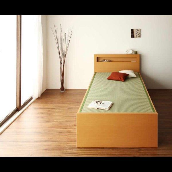 画像2: モダン&スリム棚付きチェスト仕様畳ベッド