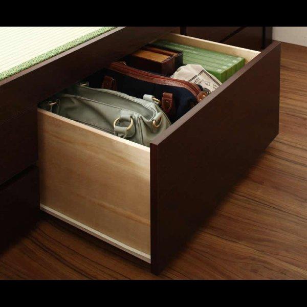 画像3: モダン&スリム棚付きチェスト仕様畳ベッド
