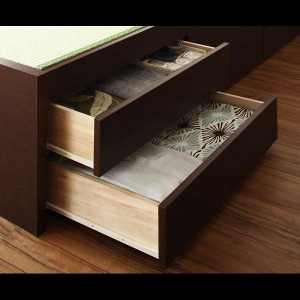 画像4: モダン&スリム棚付きチェスト仕様畳ベッド