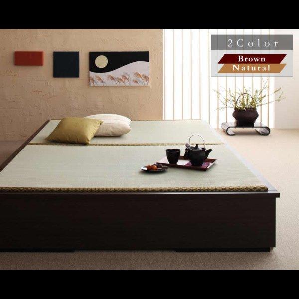 画像1: モダンデザインヘッドレス畳収納ベッド