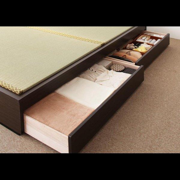 画像3: モダンデザインヘッドレス畳収納ベッド