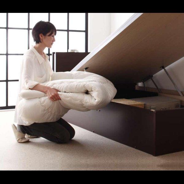 画像3: 照明・棚付きガス圧式収納畳ベッド【月花】ツキハナ