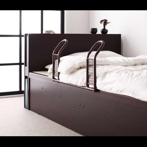 画像4: 照明・棚付きガス圧式収納畳ベッド【月花】ツキハナ
