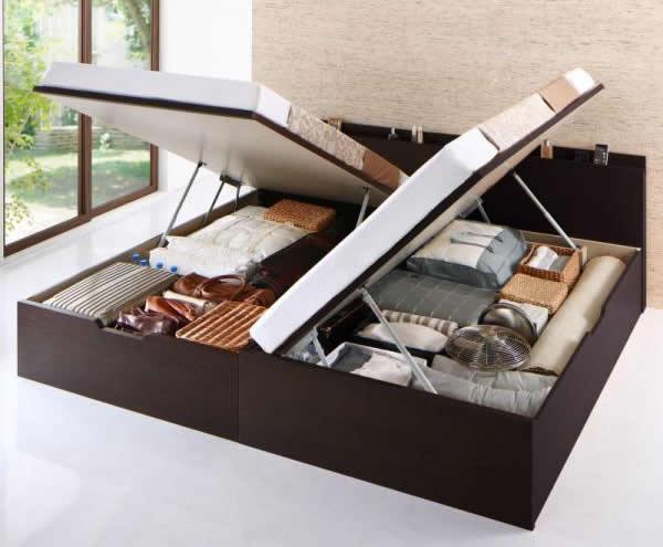 ガス圧跳ね上げ式収納ベッド:イメージ
