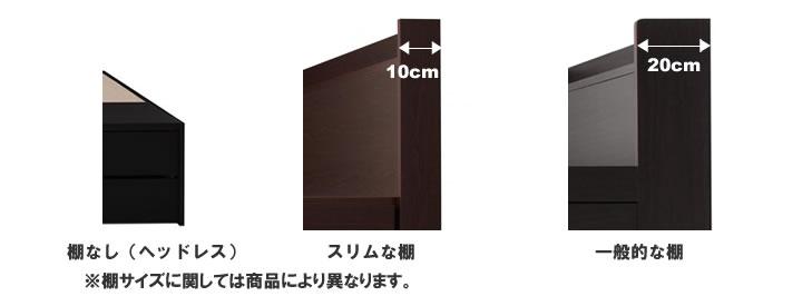 小さめベッド棚サイズイメージ