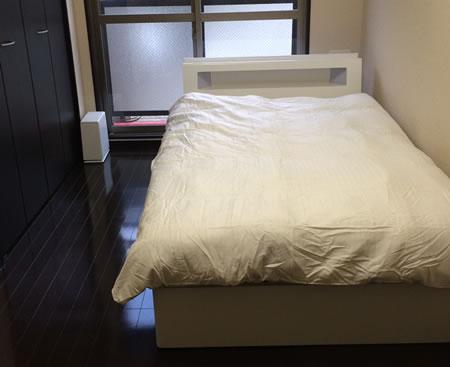 モダンライト・コンセント収納付きベッド【Cher】シェール お客様の声