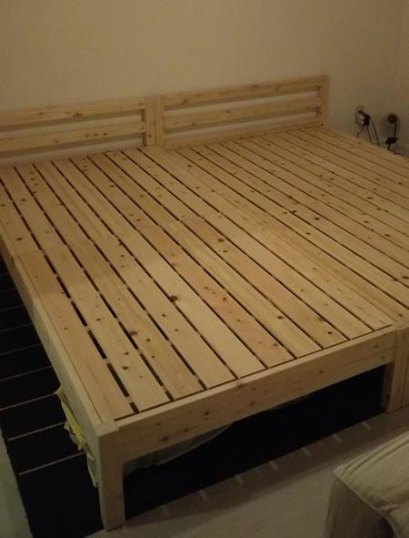 日本製無塗装ひのきすのこベッド:シンプルタイプ