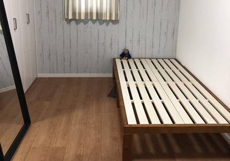 敷布団対応!天然木採用頑丈すのこベッド【Percy】