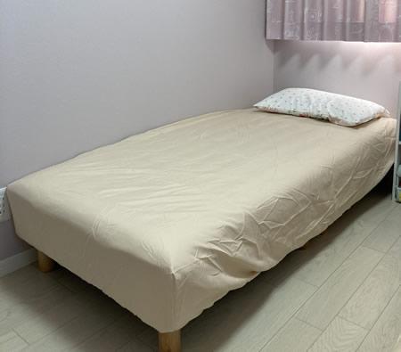 一人暮らしに最適!ショート丈マットレスベッド