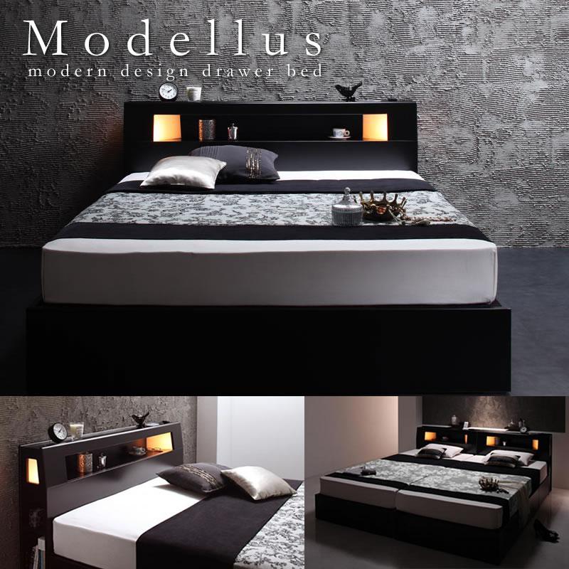 セミダブルベッド:BOX型収納ベッド