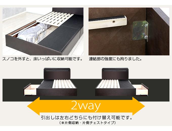 タモ突板仕様BOXタイプ収納ベッド アンゼリカ3を通販で激安販売