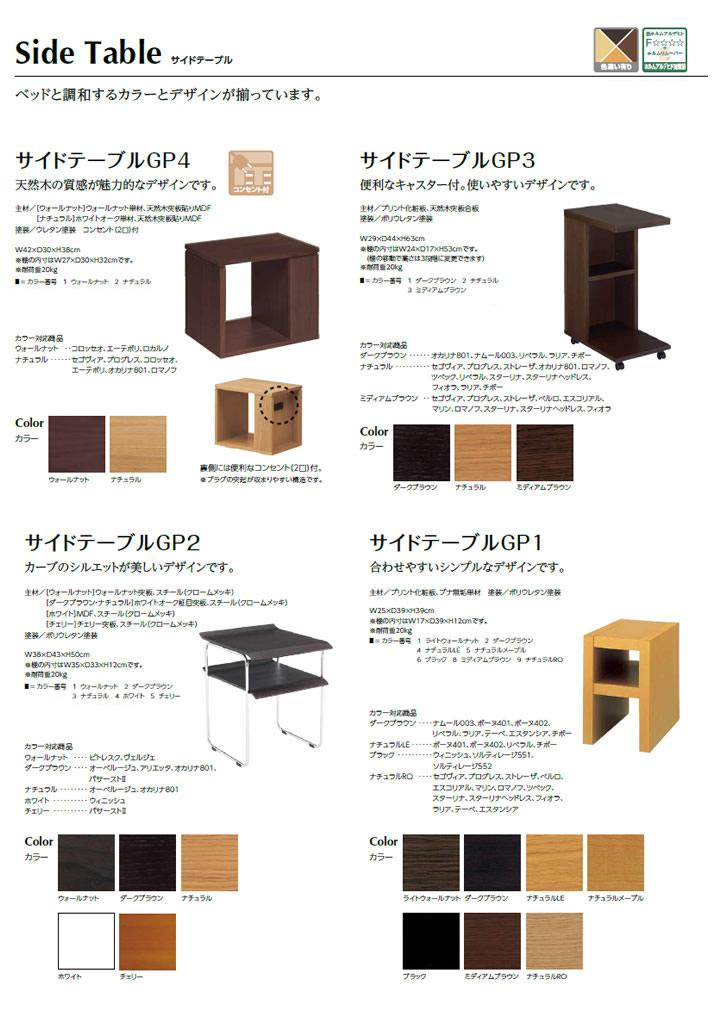 4つのサイドテーブル