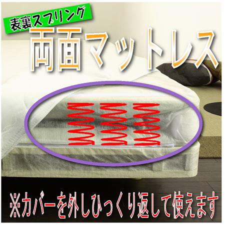 スプリングが裏表使用できるマットレスベッド CS-06 セミシングル 両面マットレス仕様