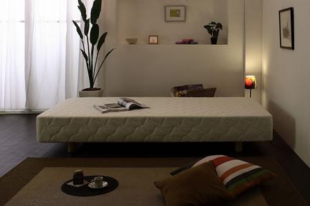 スプリングが裏表使用できるマットレスベッド CS-06 セミシングル 夜間イメージ